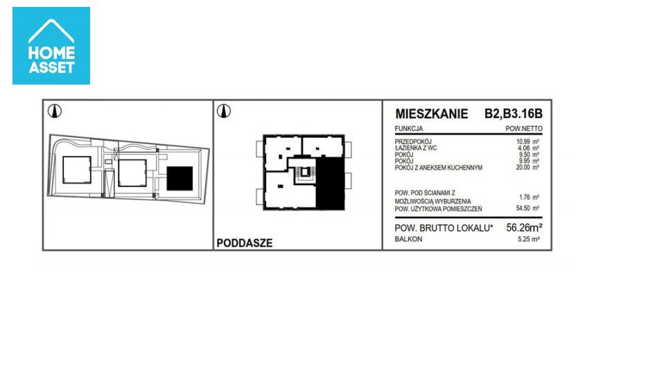 Mieszkanie trzypokojowe na sprzedaż Pruszcz Gdański, Piastowska  56m2 Foto 9