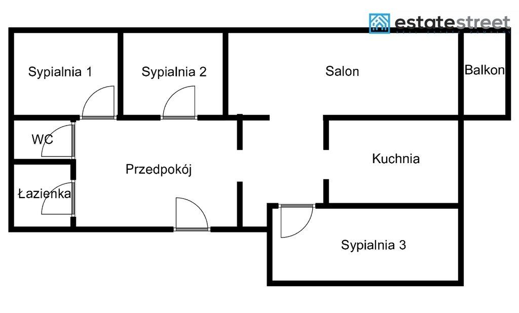 Mieszkanie czteropokojowe  na sprzedaż Katowice, Brynów, Ligocka  73m2 Foto 11