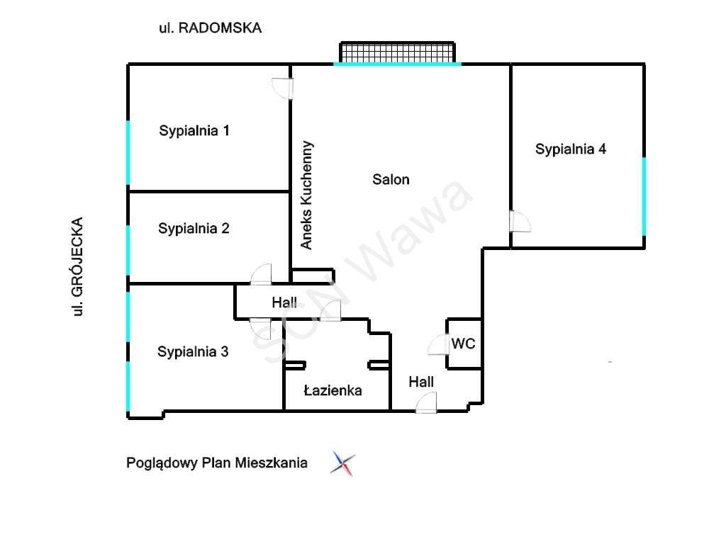 Mieszkanie na wynajem Warszawa, Ochota, Grójecka  97m2 Foto 5