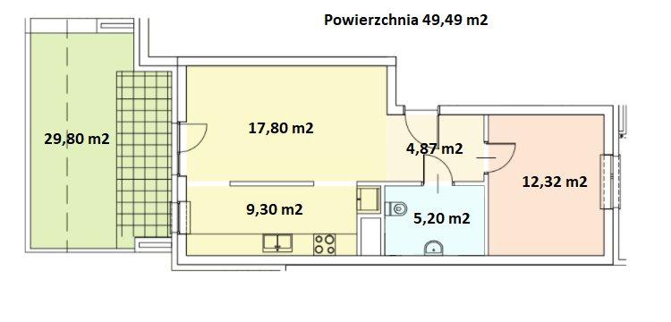 Mieszkanie dwupokojowe na sprzedaż Kraków, Kraków-Podgórze, ul. Gen. Bolesława Roi 6  49m2 Foto 8