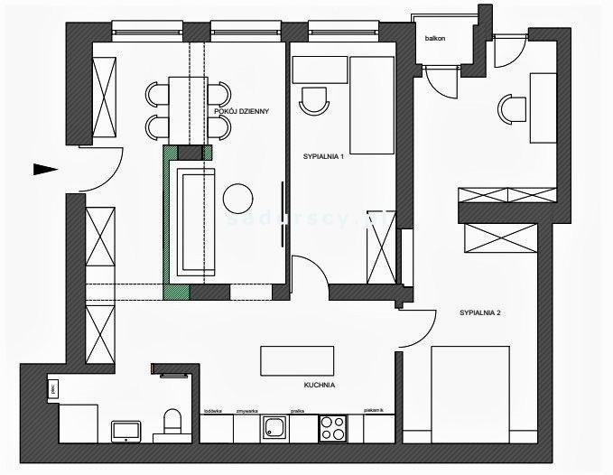 Mieszkanie trzypokojowe na sprzedaż Kraków, Podgórze, Stare Podgórze, Kalwaryjska  74m2 Foto 3