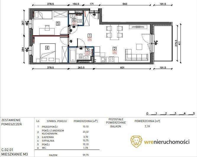 Mieszkanie trzypokojowe na sprzedaż Wrocław, Muchobór Wielki, Jurija Gagarina  60m2 Foto 1