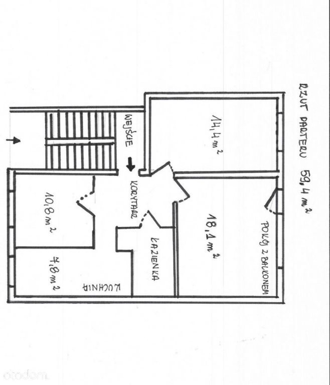 Mieszkanie trzypokojowe na sprzedaż Kielce, Bocianek  59m2 Foto 1