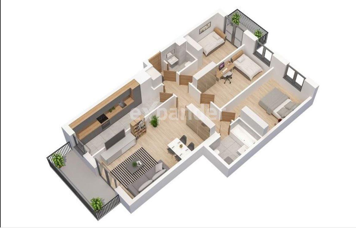 Mieszkanie czteropokojowe  na sprzedaż Poznań, Grunwald, Jeleniogórska  87m2 Foto 2