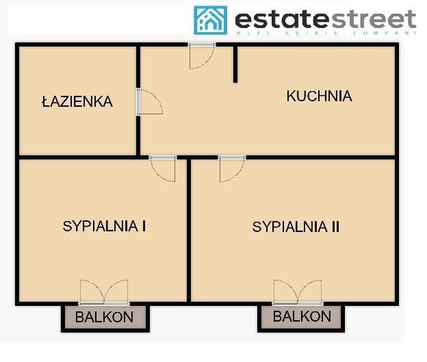 Mieszkanie dwupokojowe na wynajem Kraków, Nowa Huta, Bieńczycka  43m2 Foto 12