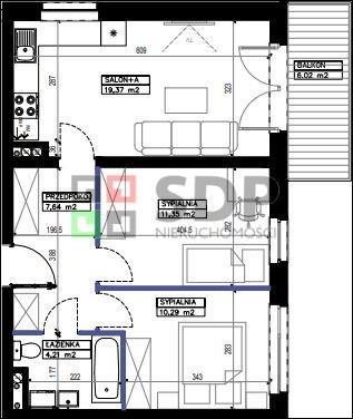 Mieszkanie trzypokojowe na sprzedaż Wrocław, Fabryczna, Stabłowice, ok. Stabłowickiej  53m2 Foto 3