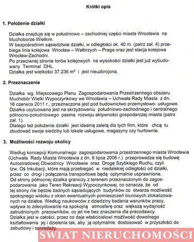 Działka komercyjna na sprzedaż Wrocław, Muchobór Wielki, Muchobór Wielki  37236m2 Foto 7
