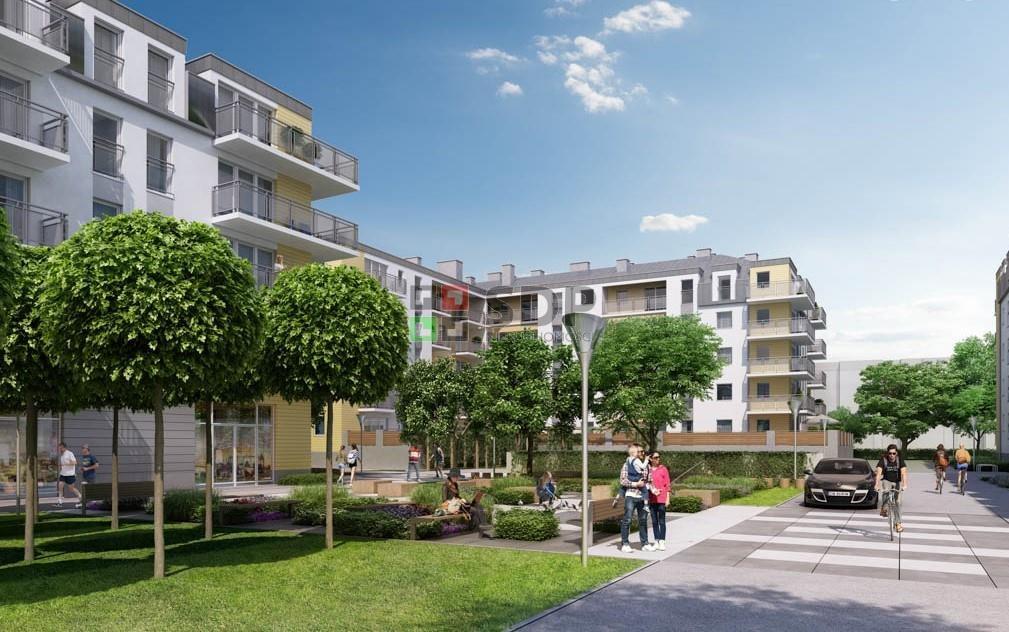 Mieszkanie dwupokojowe na sprzedaż Wrocław, Krzyki, Jagodno  52m2 Foto 1