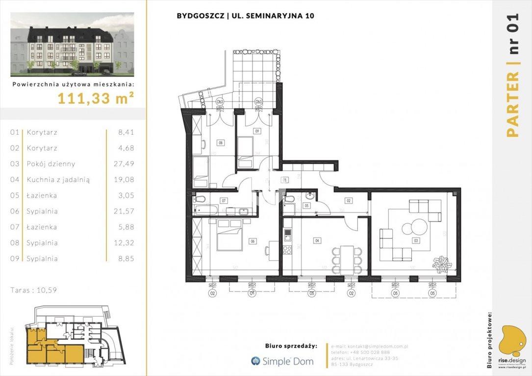 Mieszkanie na sprzedaż Bydgoszcz, Błonie, Seminaryjna  111m2 Foto 1