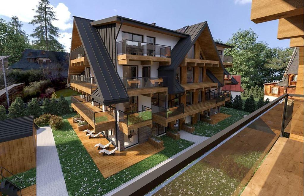 Mieszkanie dwupokojowe na sprzedaż Zakopane, Heleny Modrzejewskiej  63m2 Foto 5