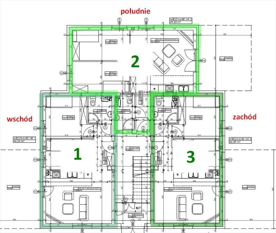 Mieszkanie trzypokojowe na sprzedaż Wągrowiec, Powstańców Wielkopolskich  46m2 Foto 5