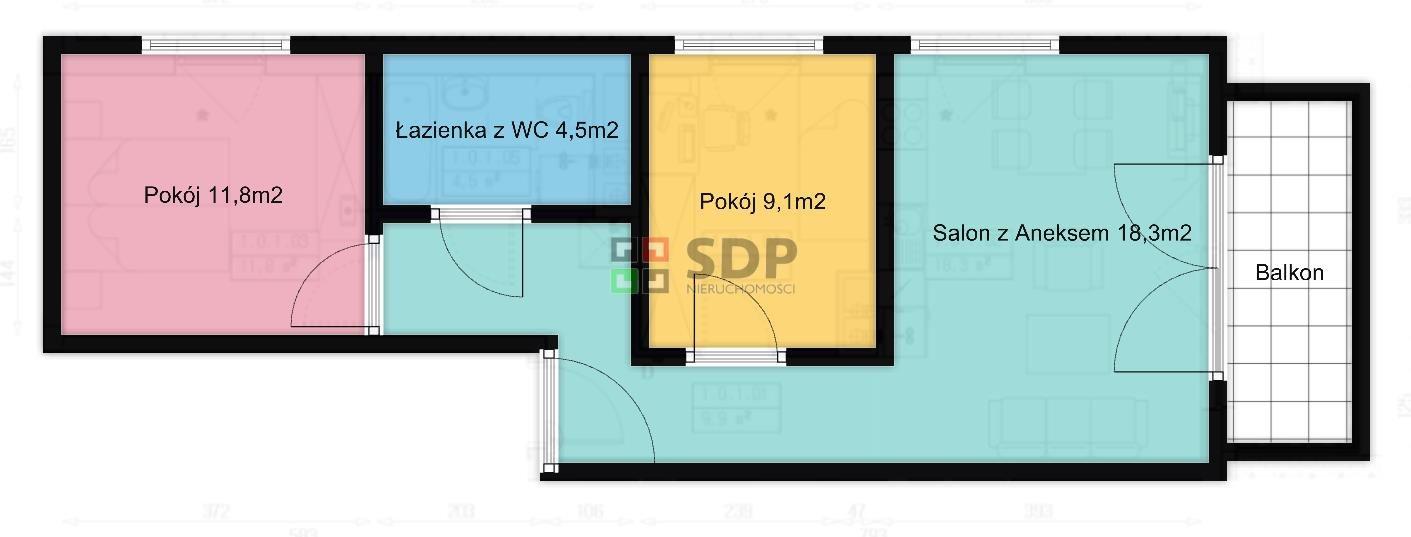 Mieszkanie trzypokojowe na sprzedaż Wrocław, Fabryczna, Grabiszyn  54m2 Foto 1