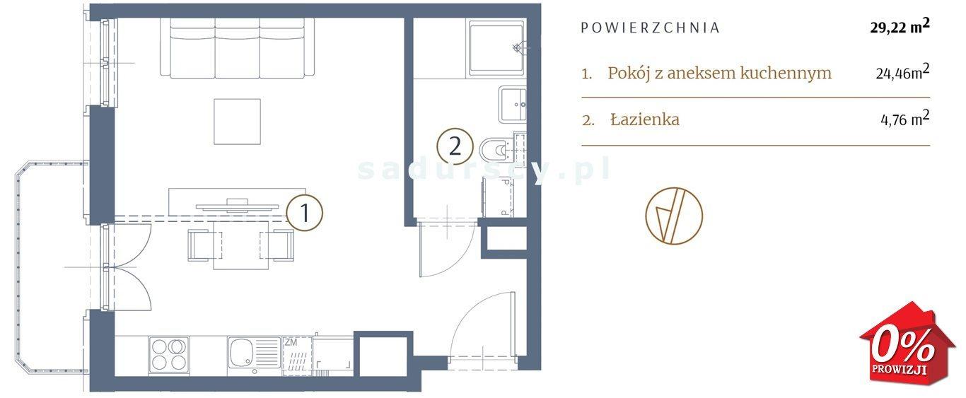 Kawalerka na sprzedaż Kraków, Stare Miasto, Kleparz, Sławkowska - okolice  29m2 Foto 3
