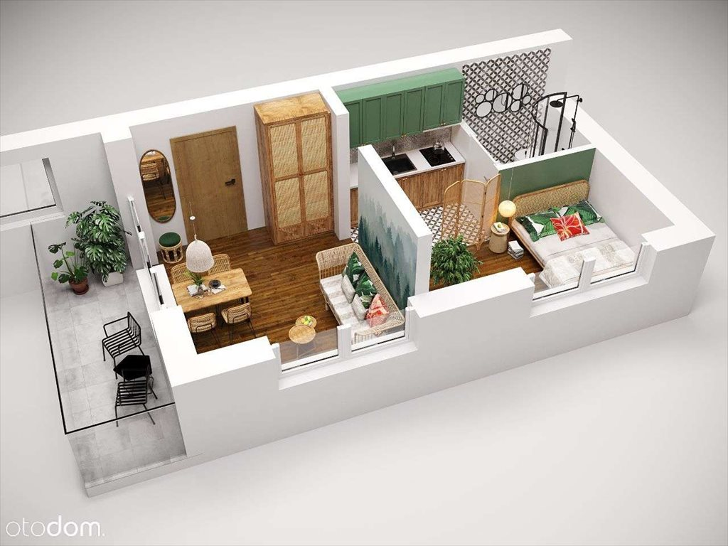Mieszkanie dwupokojowe na sprzedaż Kraków, Podgórze, sucha  25m2 Foto 1