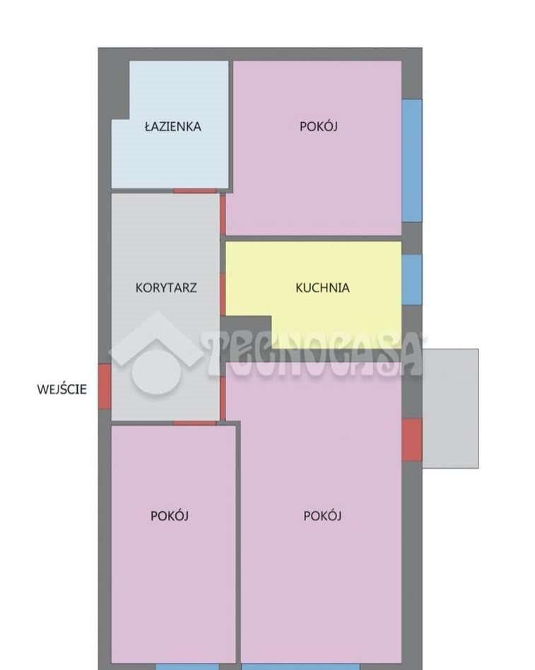 Mieszkanie trzypokojowe na sprzedaż Kraków, Dębniki, kraków  57m2 Foto 2