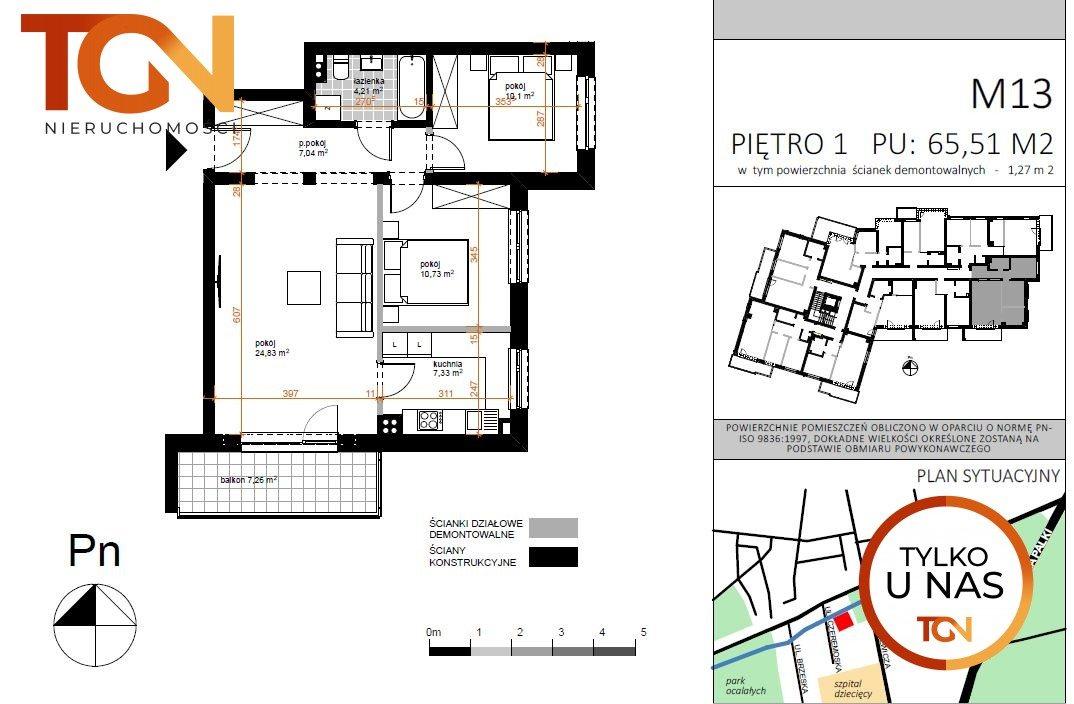 Mieszkanie trzypokojowe na sprzedaż Łódź, Doły, Czeremoska  66m2 Foto 5