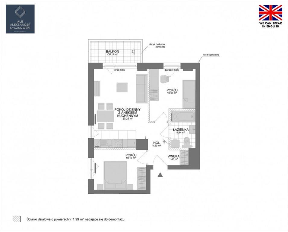 Mieszkanie trzypokojowe na sprzedaż Rumia, Janowo, Żeglarzy  53m2 Foto 2