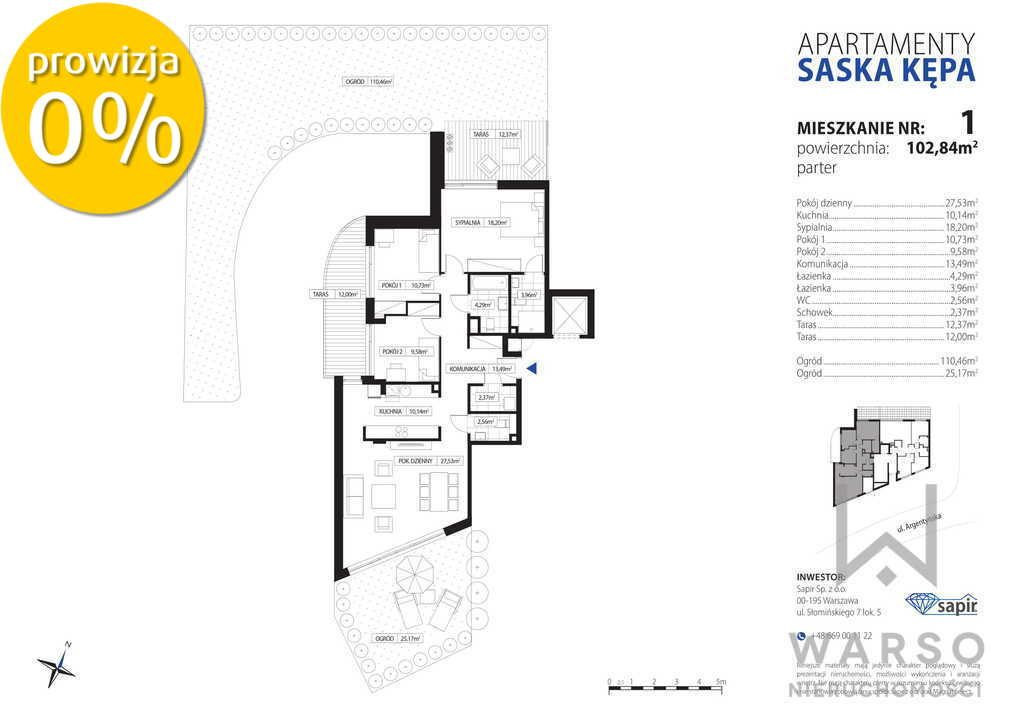 Mieszkanie czteropokojowe  na sprzedaż Warszawa, Praga-Południe, Argentyńska  103m2 Foto 1