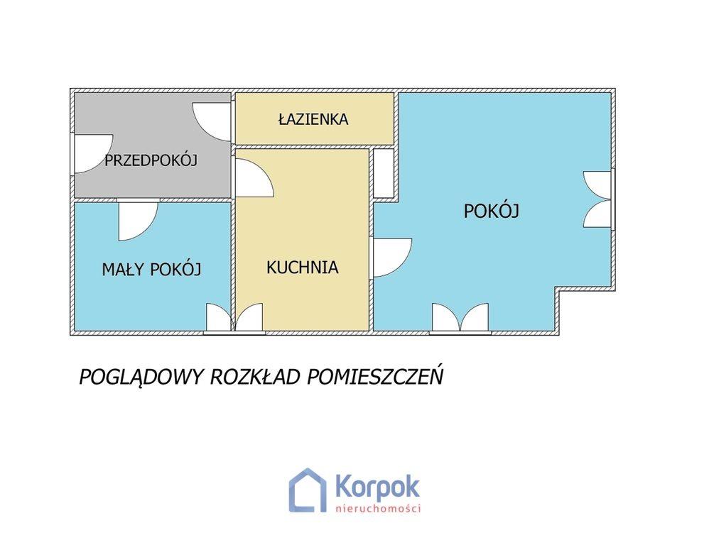 Mieszkanie dwupokojowe na sprzedaż Bytom, ks. Feliksa Zielińskiego  45m2 Foto 2