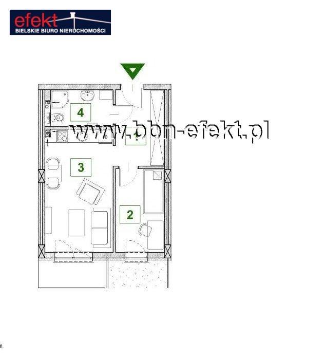 Mieszkanie dwupokojowe na sprzedaż Bielsko-Biała, Górne Przedmieście  37m2 Foto 2
