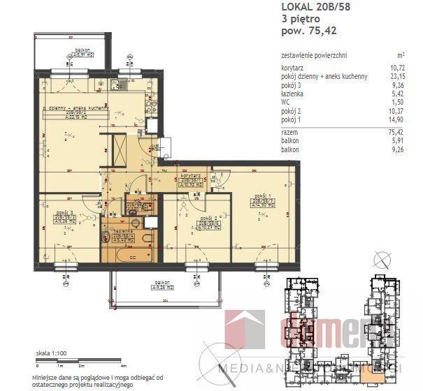 Mieszkanie czteropokojowe  na sprzedaż Poznań, Stare Miasto, Winogrady, Wilczak  75m2 Foto 10