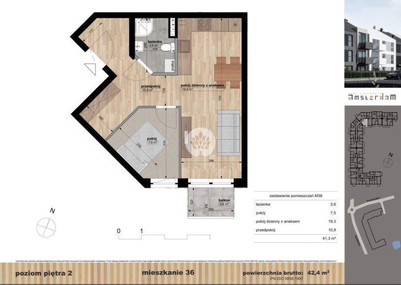Mieszkanie dwupokojowe na sprzedaż Bydgoszcz, Siedlecka  42m2 Foto 1