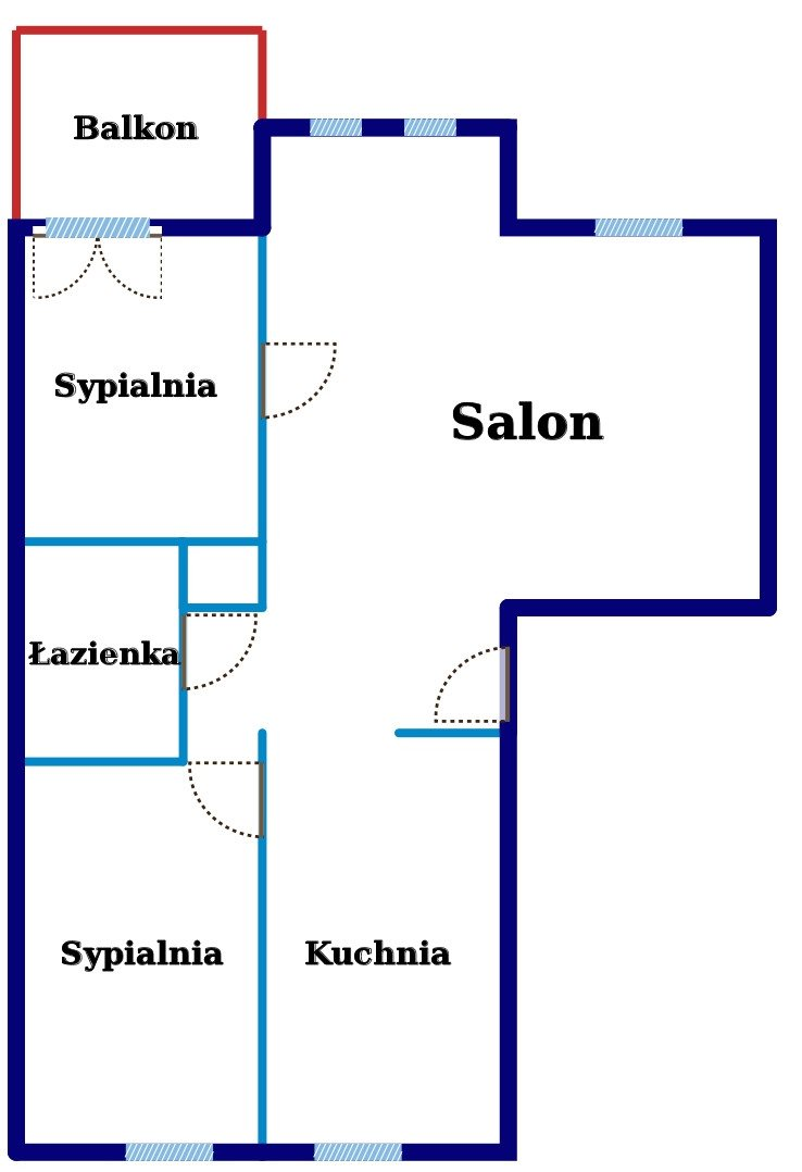 Mieszkanie trzypokojowe na sprzedaż Warszawa, Włochy, Naukowa  66m2 Foto 12
