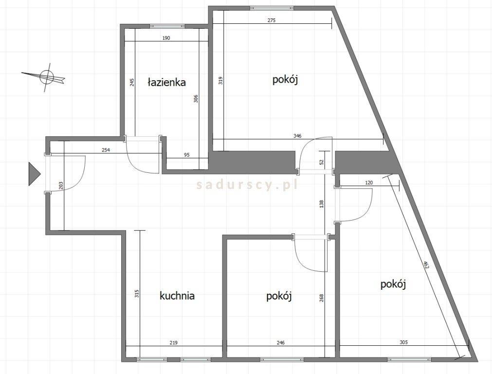 Mieszkanie trzypokojowe na sprzedaż Kraków, Stare Miasto, Stare Miasto, Bonerowska  51m2 Foto 2