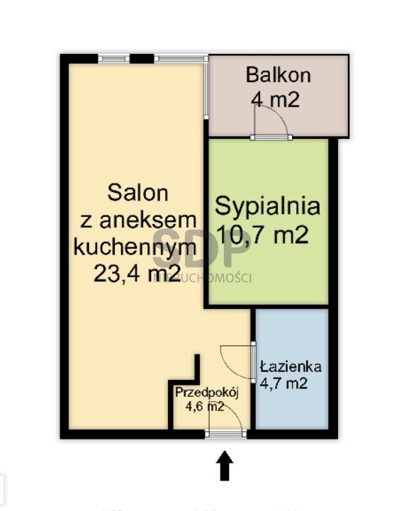 Mieszkanie dwupokojowe na sprzedaż Wrocław, Krzyki, Borek, Racławicka  43m2 Foto 3