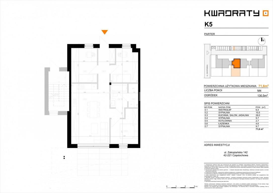Mieszkanie czteropokojowe  na sprzedaż Częstochowa, Parkitka, Zakopiańska  72m2 Foto 5