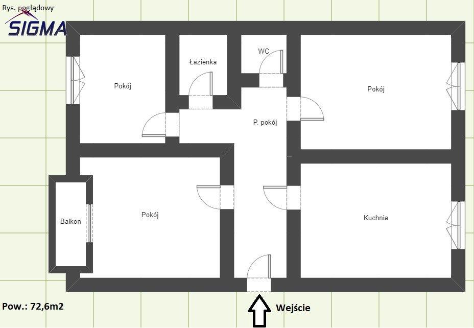 Mieszkanie trzypokojowe na sprzedaż Bytom, Stroszek, Hlonda  73m2 Foto 3