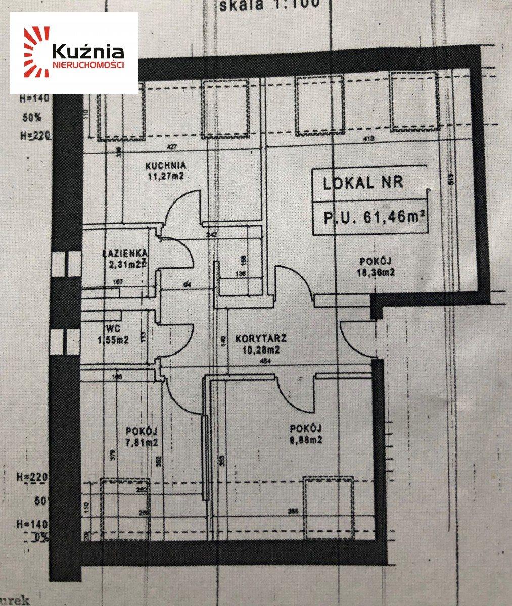 Mieszkanie trzypokojowe na sprzedaż Rukławki  61m2 Foto 1