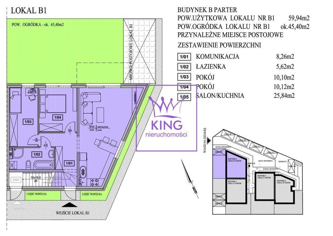 Mieszkanie trzypokojowe na sprzedaż Mierzyn  60m2 Foto 3