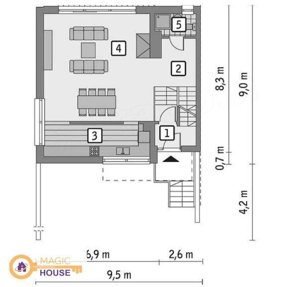 Mieszkanie czteropokojowe  na sprzedaż Koleczkowo, Hippiczna  190m2 Foto 6