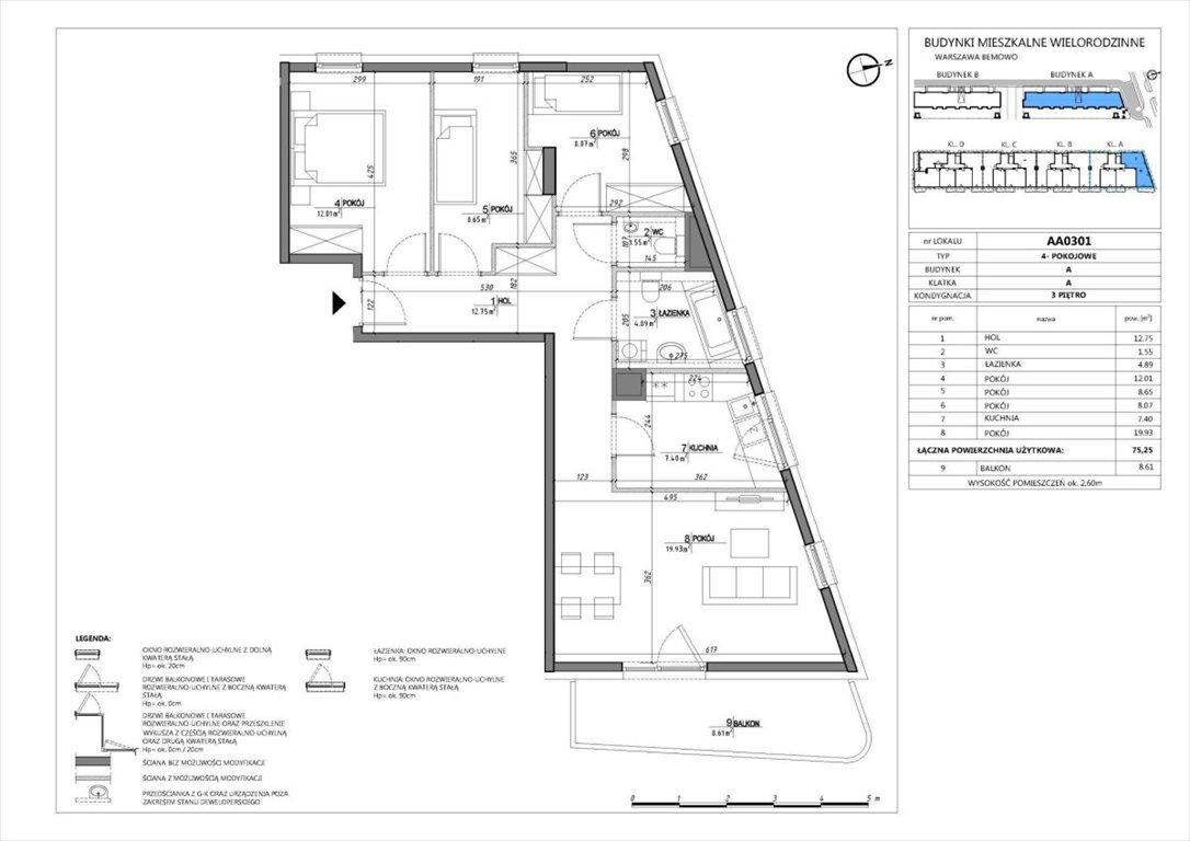 Mieszkanie czteropokojowe  na sprzedaż Warszawa, Bemowo, Jelonki, Batalionów Chłopskich  75m2 Foto 1