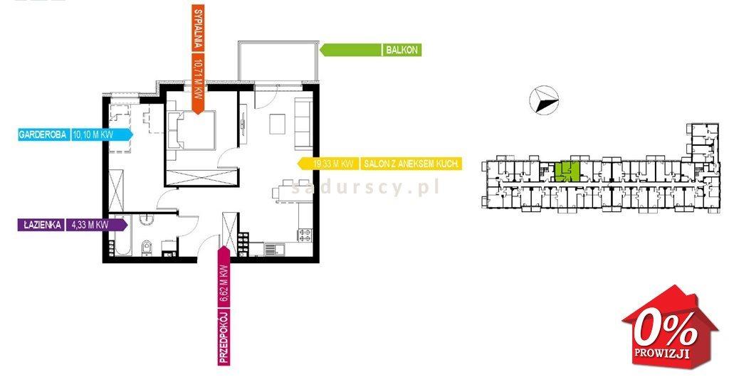 Mieszkanie trzypokojowe na sprzedaż Kraków, Bieżanów-Prokocim, Osiedle Złocień, Osiedle Złocień  51m2 Foto 3