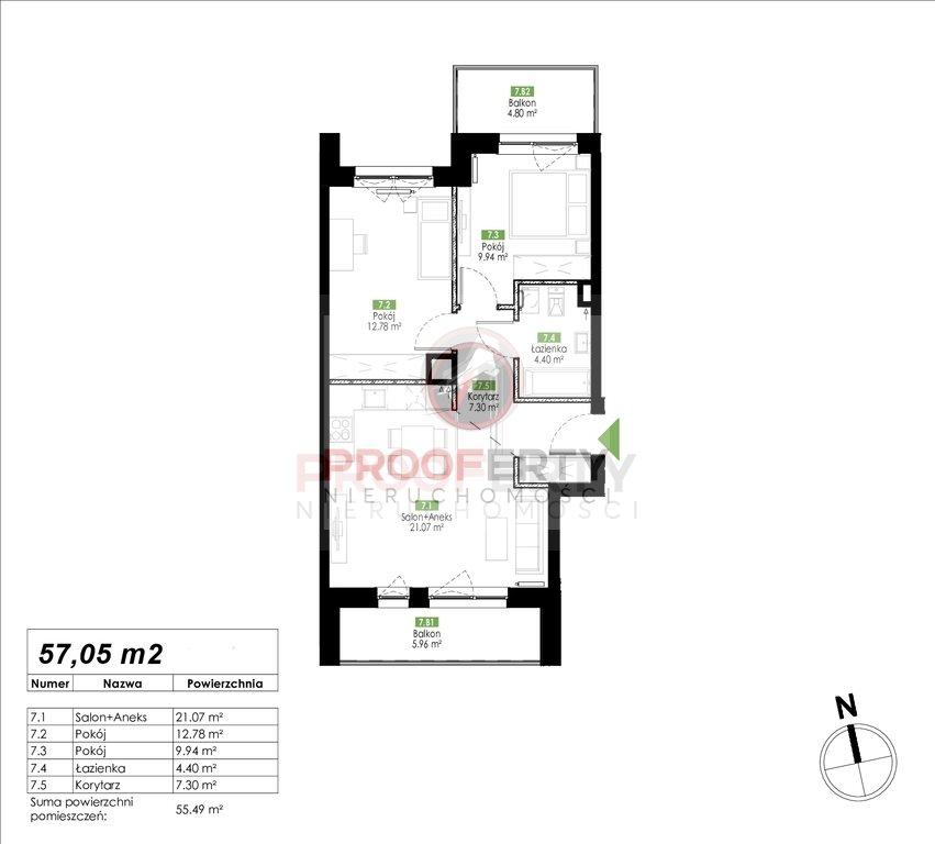 Mieszkanie trzypokojowe na sprzedaż Gdańsk, Jasień, Jabłoniowa  57m2 Foto 3