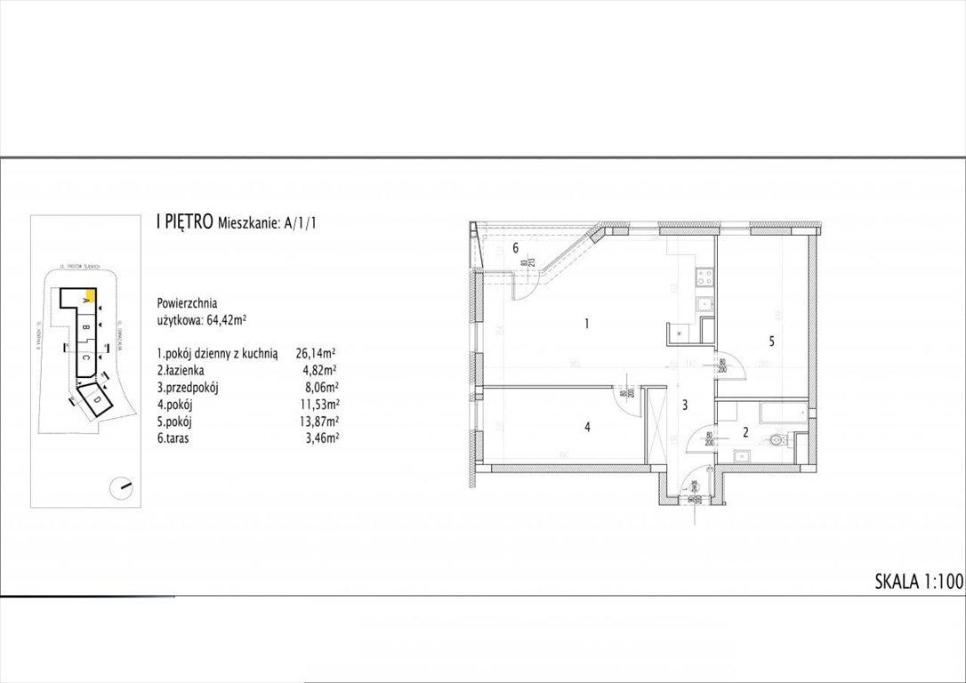 Mieszkanie trzypokojowe na sprzedaż Siechnice  64m2 Foto 2