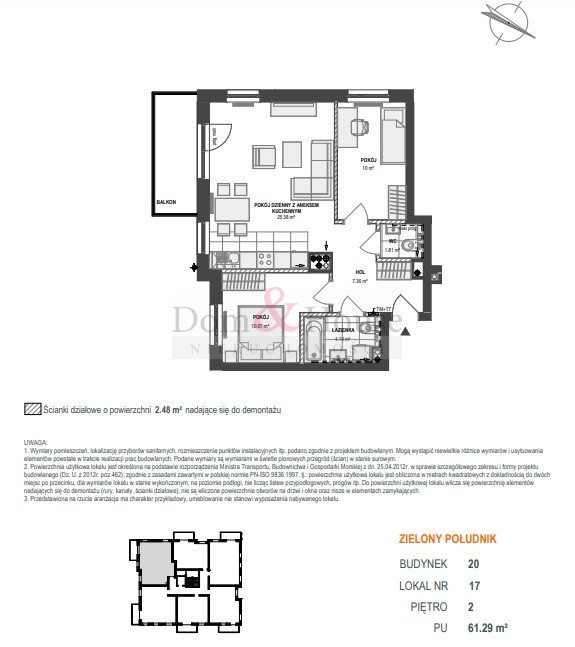 Mieszkanie trzypokojowe na sprzedaż Gdańsk, Maćkowy, Starogardzka  61m2 Foto 6