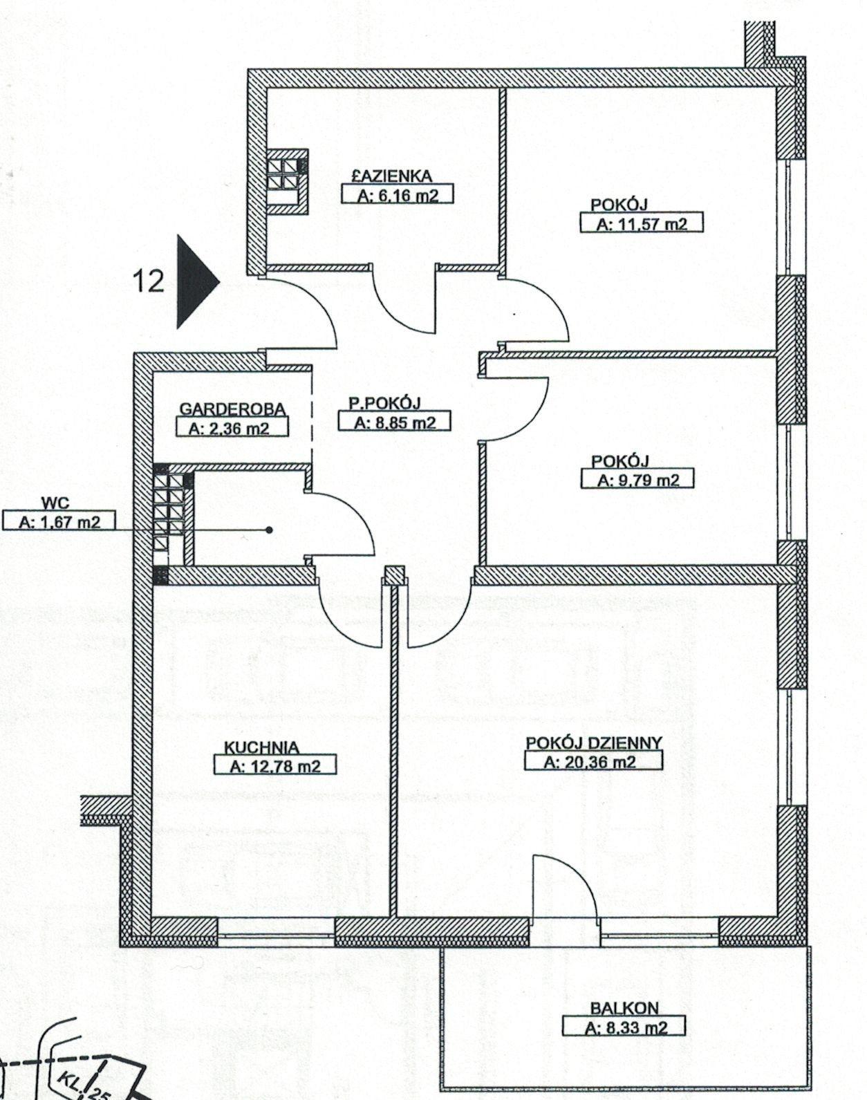 Mieszkanie trzypokojowe na sprzedaż Wrocław, Krzyki, Rakowiecka  74m2 Foto 2