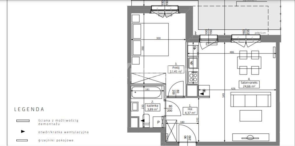 Mieszkanie dwupokojowe na sprzedaż Poznań, Grunwald, Jeleniogórska  46m2 Foto 4