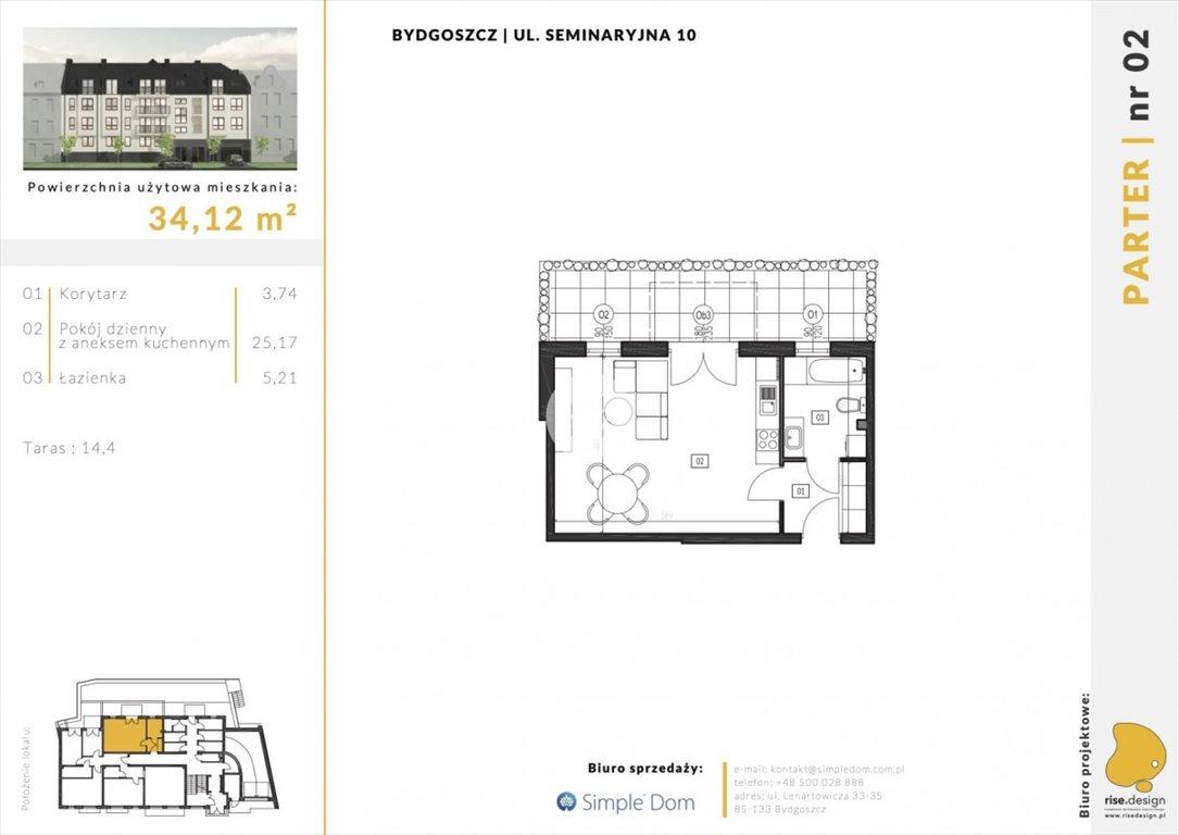 Mieszkanie dwupokojowe na sprzedaż Bydgoszcz, Błonie, Seminaryjna  34m2 Foto 6