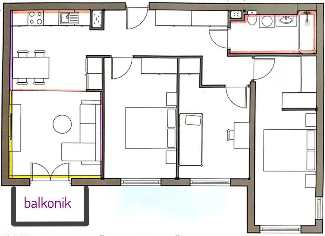 Mieszkanie czteropokojowe  na sprzedaż Poznań, Naramowice, Karpia 27  80m2 Foto 2