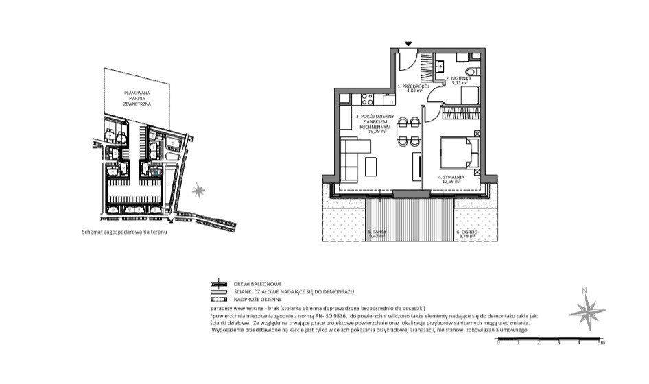 Mieszkanie dwupokojowe na sprzedaż Gdańsk, Sobieszewo, Łąkowa  41m2 Foto 1