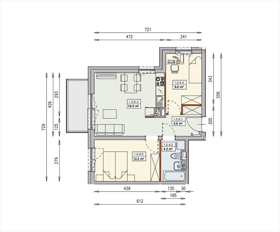 Mieszkanie trzypokojowe na sprzedaż Wrocław, Swojczyce  49m2 Foto 9