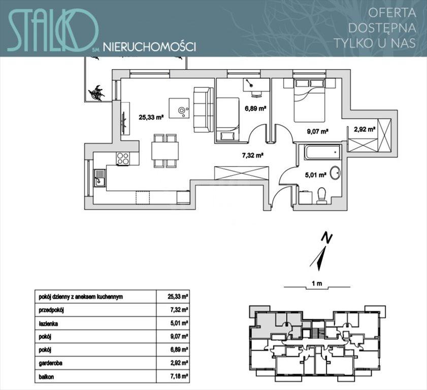 Mieszkanie trzypokojowe na sprzedaż Rumia  57m2 Foto 2