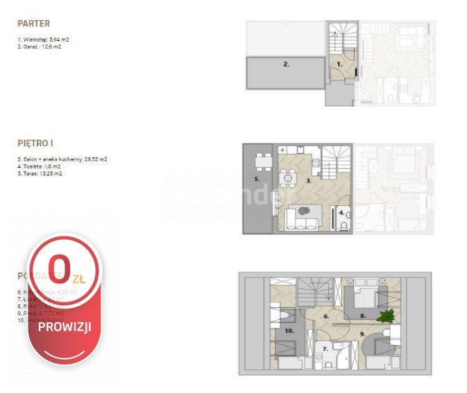 Mieszkanie czteropokojowe  na sprzedaż Dachowa  71m2 Foto 3