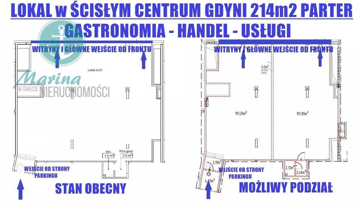 Lokal użytkowy na wynajem Gdynia, Śródmieście, Stefana Batorego  214m2 Foto 3