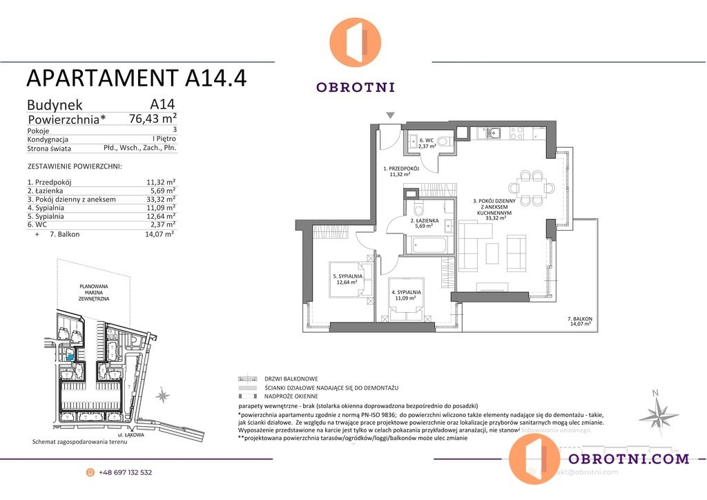 Mieszkanie trzypokojowe na sprzedaż Gdańsk, Sobieszewo, Łąkowa  76m2 Foto 13