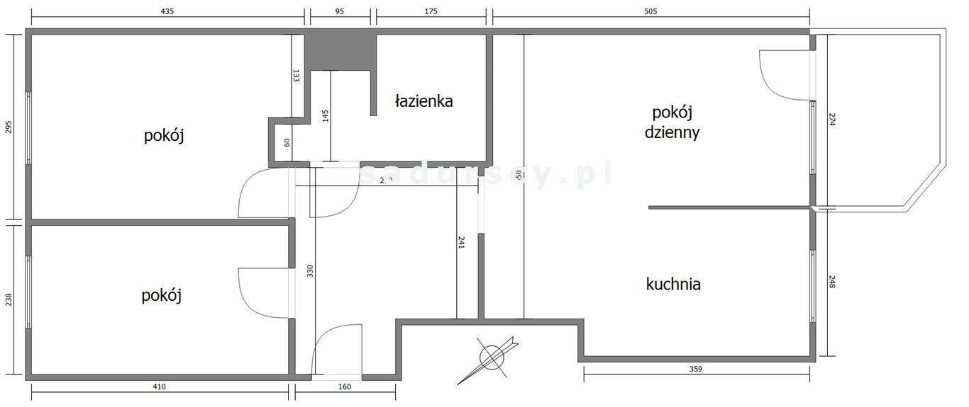 Mieszkanie trzypokojowe na sprzedaż Kraków, Bronowice, Bronowice Małe, Armii Krajowej  63m2 Foto 3